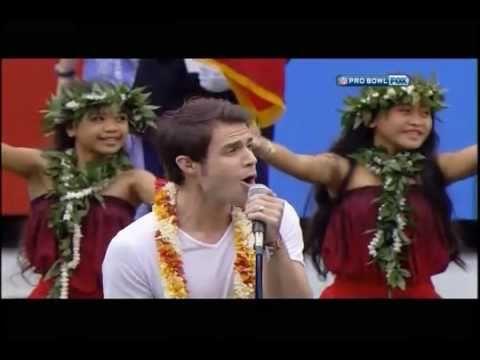 American Idol Kris Allen - National Anthem - Pro Bowl - Hawaii