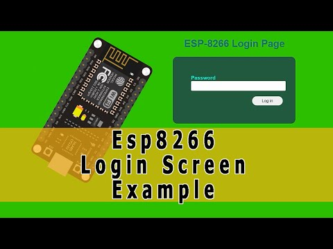 Esp8266 User Login Screen Example With Html Css Javascript And Websocket Using Arduino Ide Part 1