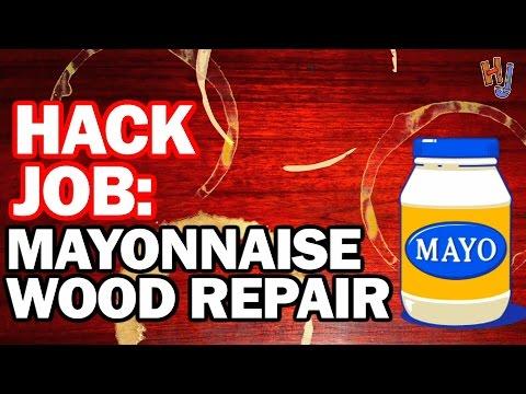 Mayonnaise Wood Repair? Hack Job #10