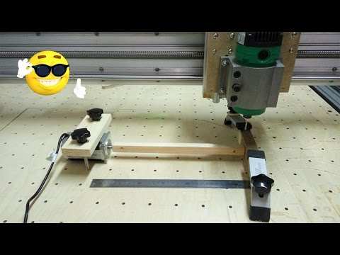 Homemade diy CNC Router A axis wood turning lathe test~