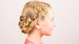 Детские косички на скорую руку. Children's Easy Hairstyle