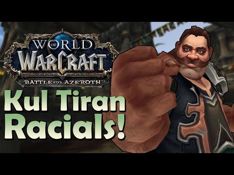 Kul Tiran Racials - In Game Preview   Battle for Azeroth