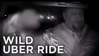 Uber Driver Fights Passenger That Grabs for Wheel