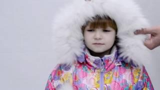 Детский зимний комбинезон для девочки