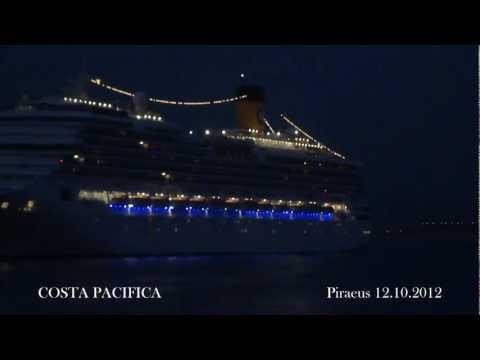 COSTA PACIFICA arrival at Piraeus Port