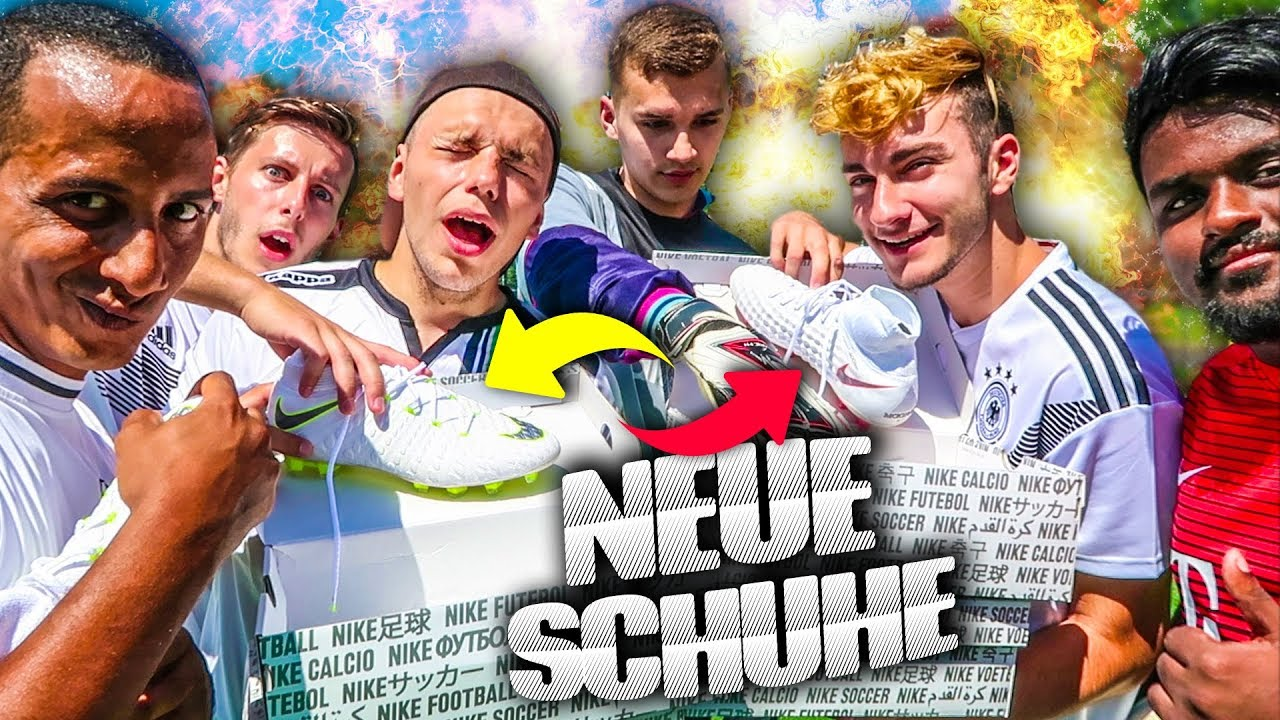 FUßBALL CHALLENGE UM BRANDNEUE FUßBALLSCHUHE!!