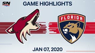 NHL Highlights   Coyotes vs Panthers – Jan. 7, 2020