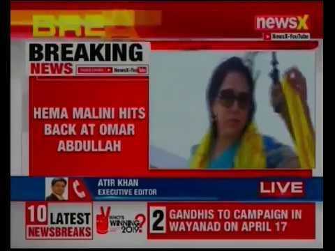 Hema Malini hits back at Omar Abdullah tractor remark, can take a boat ride  on Dal lake
