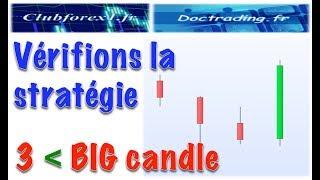 Vérifions la stratégie 3 -  Big candle