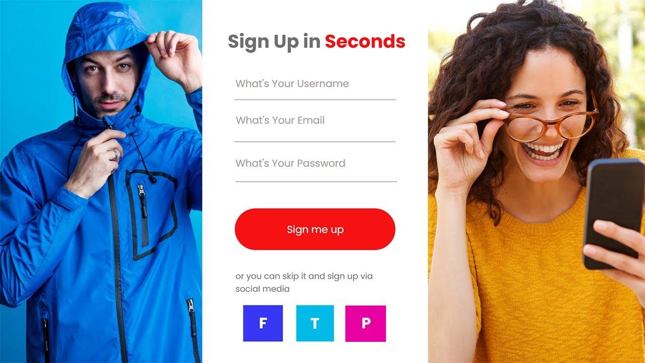 Creative Sign Up UI  Page Design in Adobe XD - Latest UI Design Tutorial