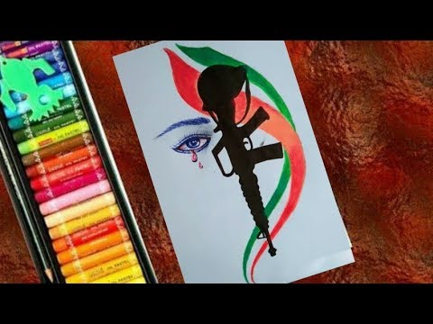 Independence Day Drawing By Water Color  15th August Painting  Republic Day