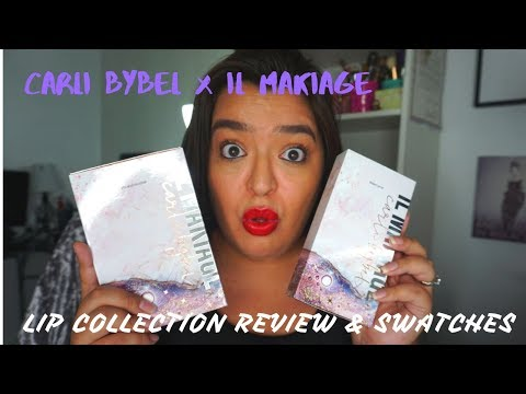 Carli Bybel x IL Makiage Lip Collection Review & Swatches thumbnail