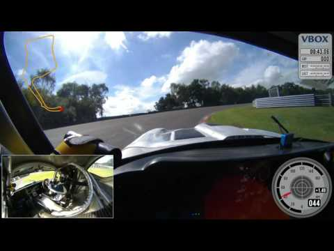 Testing the E-Type at Oulton Park