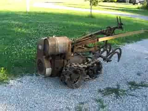 Vaughan Flex Tred Antique Garden Tractor   YouTube