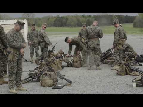 Marines from Company C, Fleet Anti-Terrorism Security Team, Marine Corps Security Force Regiment