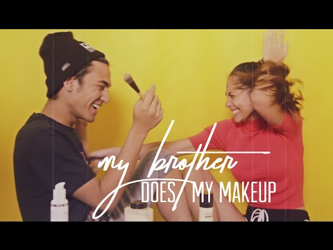 My Brother Does My Makeup Challenge   Valerie & Axel Matthew Thomas