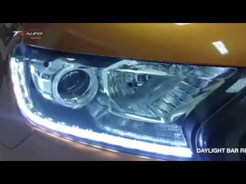 Led Headlight Bulb >> FORD RANGER - วงแหวน LED + DAYLIGHT BAR RUN - YouTube