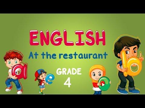 English   Grade 4   At the restaurant