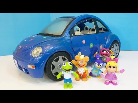 BLUE VOLKSWAGEN Bug Car Muppet Babies Toys Go For Dinner