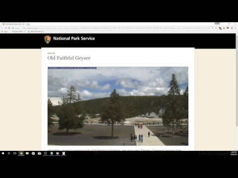 Yellowstone old faithful 30 second update camera until livestream comes back online