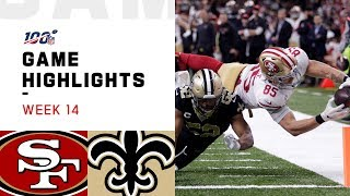 Download 49ers vs. Saints Week 14 Highlights | NFL 2019 Mp3 and Videos