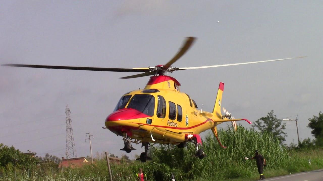 Elicottero 118 : Incidente sulla romea a sant anna arriva l elicottero del