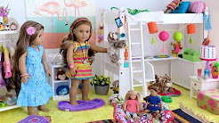 Playroom American Girl doll bedroom ideas - YouTube