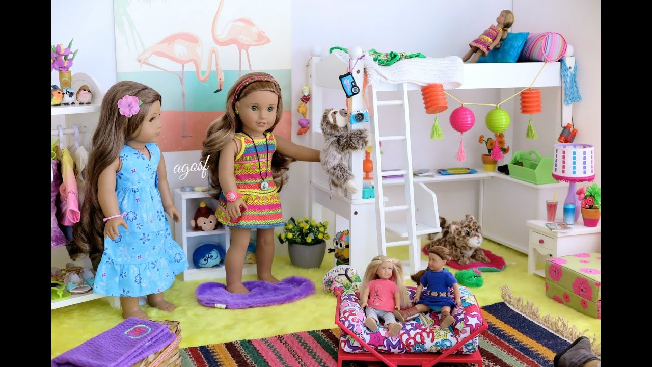 American Girl Doll Lea Clark S Bedroom Hd Youtube
