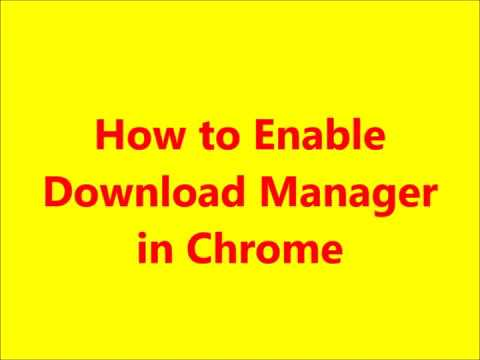 How To Enable Download Manager In Google Chrome App