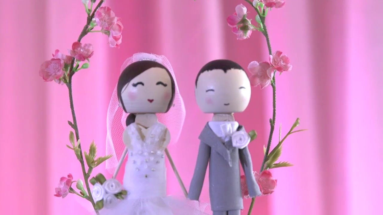 Wedding Cake Topper - ♥ DIY - YouTube