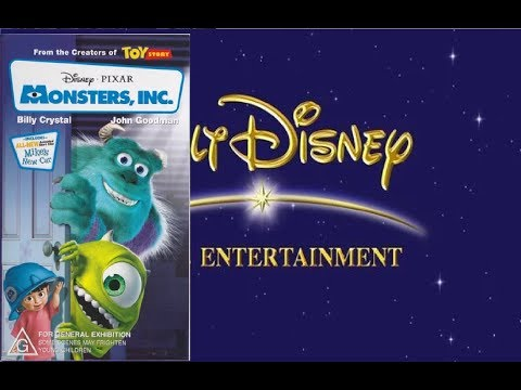Opening And Closing To Monsters Inc 1999 VHS Australia