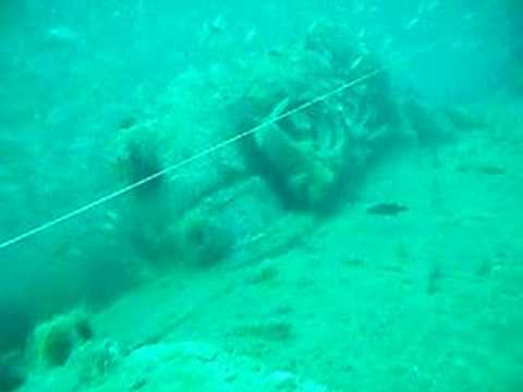 Scuba Diving U-352, German U-Boat.