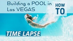 Time lapse Building our Pool in Las Vegas Desert Springs Pools and Spas,  small backyard