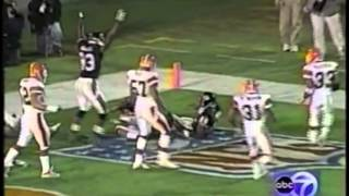 THE BEARS SCORED 2 TDS IN THE FINAL 32 SECONDS ENROUTE TO AN IMPROBABLE 13-3 RECORD IN 2001