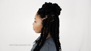 Hairstyles for Havana Twists: 3 Styles For Black Ethnic Hair Tutorial Part 7