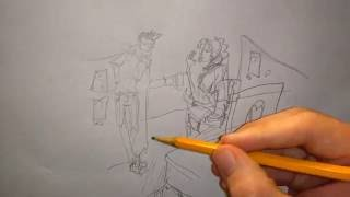 Drawing 2 Office Workers in 5 Minutes w/ Commentary