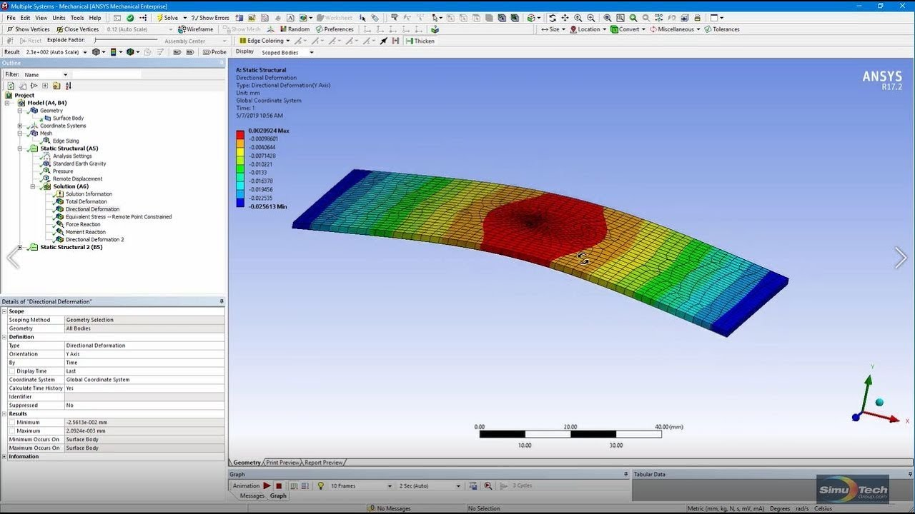 ANSYS FEA Videos: Inertia Relief in a Static Analysis