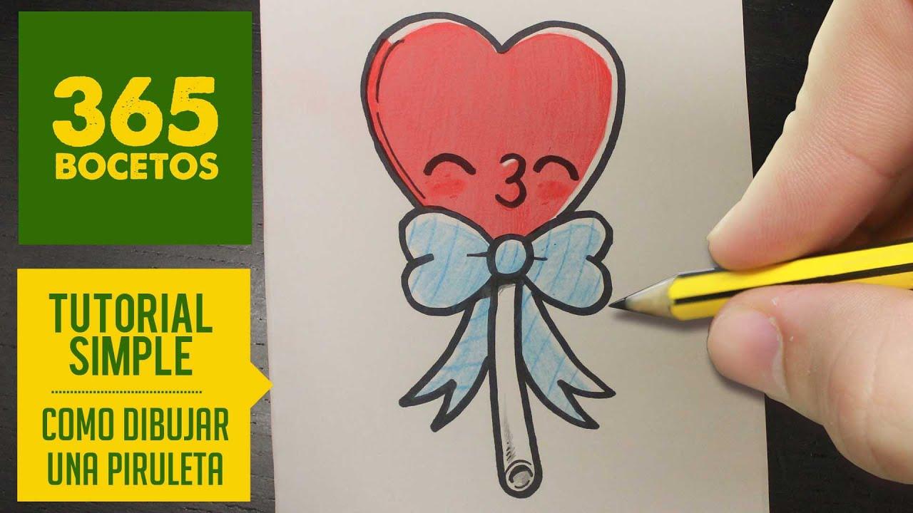 Como Dibujar Libreta Kawaii Paso A Paso Dibujos Kawaii: Como Dibujar Una Muneca Kawaii Como Dibujar Una Piruleta