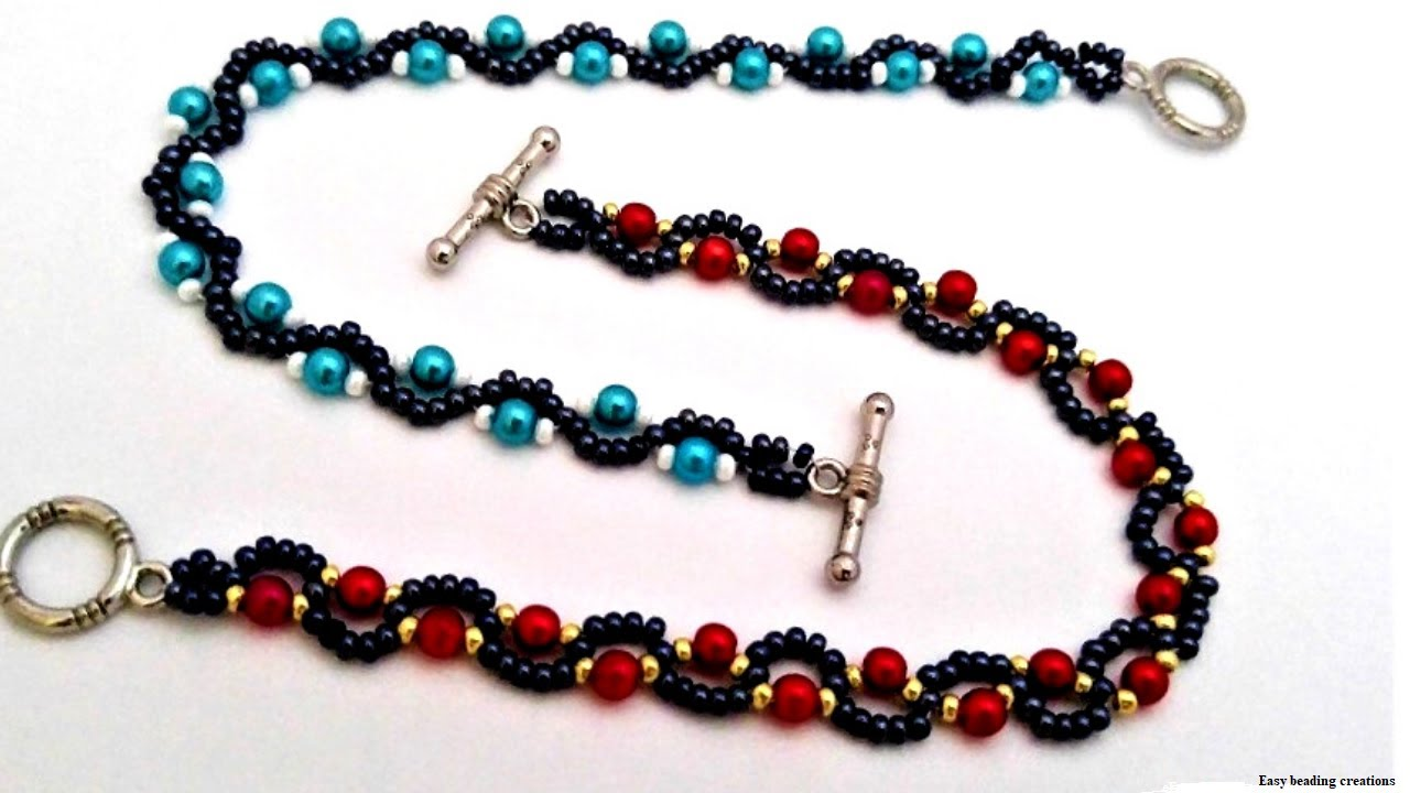 How to make simplest bracelets //Tutorial for beginners//  DIY easy bracelet pattern//