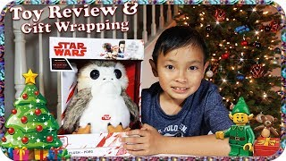 STAR WARS The Last Jedi Porg Toy Review and Christmas Gift Wrapping -TigerBox HD