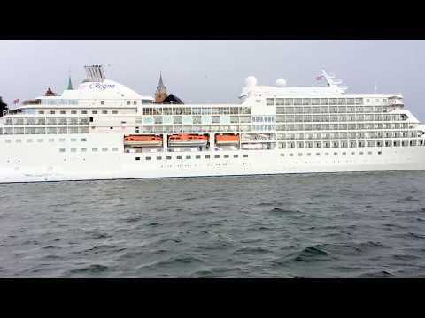 View Of Europa Cruise Ship From Oslo Fjord Cruise, Norway #oslo #norway #fjord #cruise