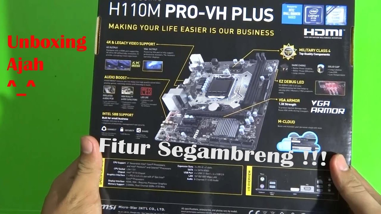 Unboxing Motherboard/Mainboard MSI H110M Pro-VH Plus - YouTube