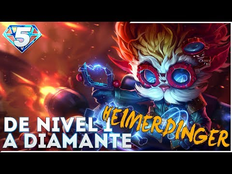 DE NIVEL 1 A DIAMANTE | HEIMERDINGER MID | Ranked con el monguer!!