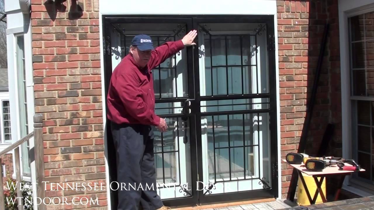 How to install double security storm doors youtube for Storm doors for double entry doors