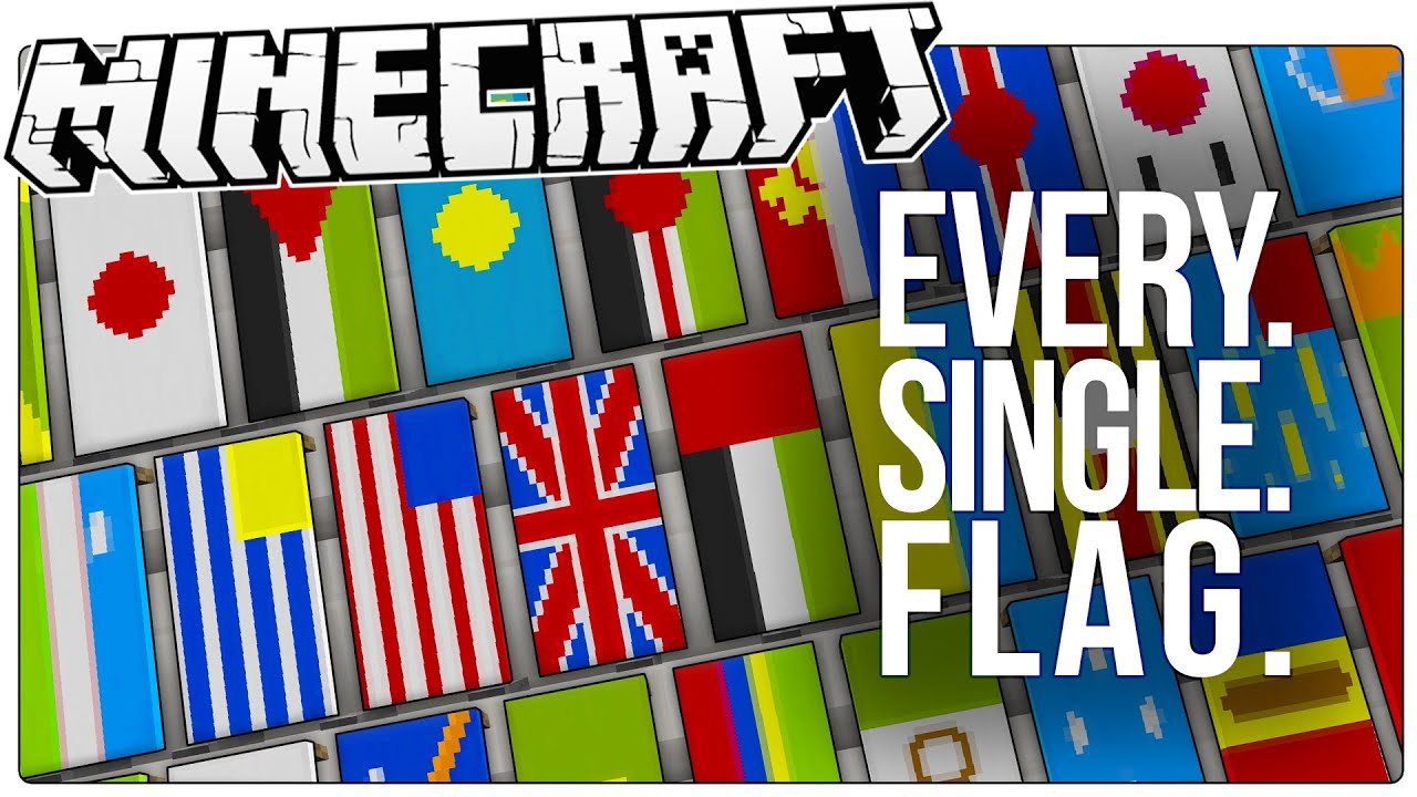 this guy made every single country s flag in minecraft all 226 of
