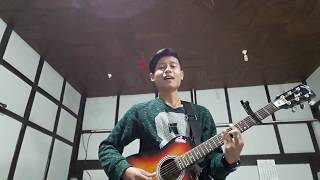 Dil diya gallan   unplugged acoustic guitar cover   anong singpho
