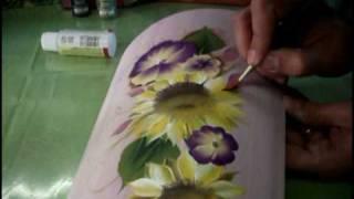 One Stroke Painting - Luca Sansone - Sunflower :-)