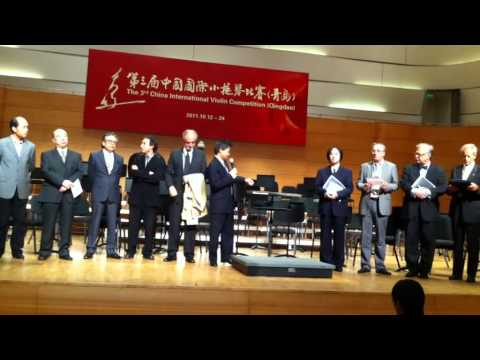 3rd China International Violin Competition Qingdao 2011 Prize Announcement.