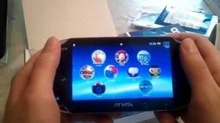 PS Vita Unboxing + erṡte Eindrücke