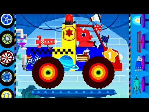 Thumbnail: Truck Driver Monster Truck : Dinosaur Cars Cartoons - Car Driving for Children | Videos for KIDS